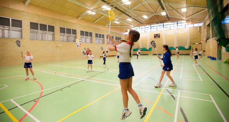 children in sports hall