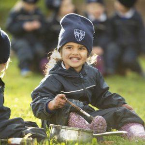 children in forest school